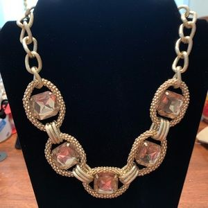 Citrine stone color with gold tone hardware